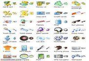 i-Commerce Icon Set Personnalisation de l'ordinateur