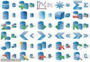 Database Icon Set Personnalisation de l'ordinateur
