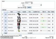 PHP Data Grid Web Control Programmation