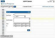 ApPHP Calendar Programmation
