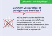 Affiche gestes barrières Coronavirus PDF Maison et Loisirs