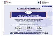 Coronavirus Affiche Tests de dépistage Maison et Loisirs