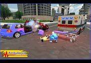 Ambulance pilote de secours 3D Jeux