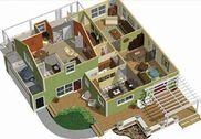 3D Accueil sol idées de plan Maison et Loisirs