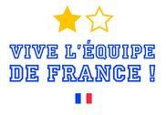 Slogan imprimable Vive l'équipe de France Maison et Loisirs