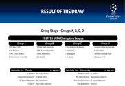 Calendrier officiel Ligue des Champions 2017-2018 (Phase de groupes) Maison et Loisirs