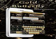 Gold Butterfly Thème pour clavier Maison et Loisirs