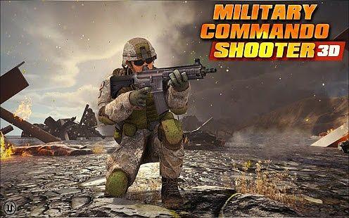 Militaire Commando Tireur 3D