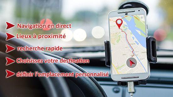 Recherche d'itinéraire GPS