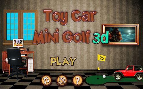 Mini voiture jouet golf 3D