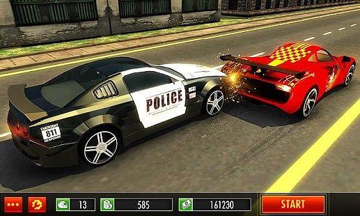 Voiture de police vs Gangster