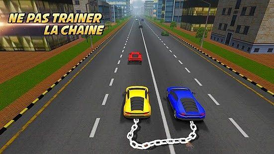Course de voiture enchaînée