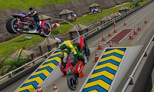 Course de vélos en chaîne: Extreme Moto Stunts 3D