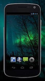 4K Northern Light Aurora Video Live Wallpaper
