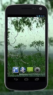 4K Rain Drops on Window Video Live Wallpaper