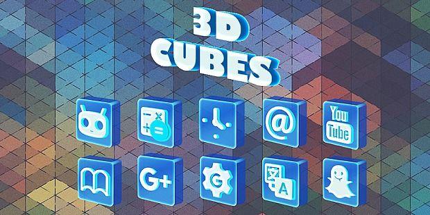 3D Cubes - Solo Launcher Theme