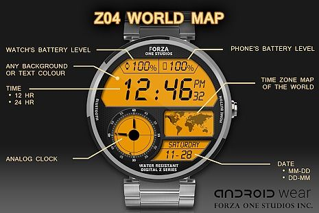 Watch Face Z04 Android Wear