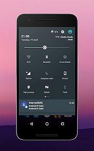 Android N Dark cm13 theme