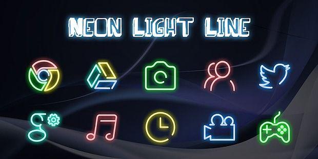 Neon Light Line - Solo Launcher Theme