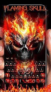 Feu crane clavier theme Hell Fire Skull