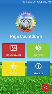 Puja Countdown Live Wallpaper