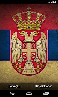 Flag of Serbia Live Wallpaper