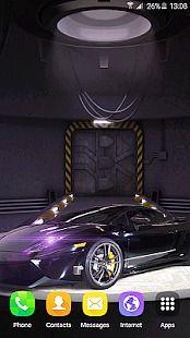 3D Cars Clock Wallpaper HD