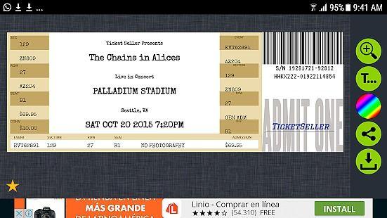 Fake Concert Ticket Generator & Ticket Maker