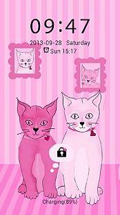 Pink Kitties - GO Locker Theme