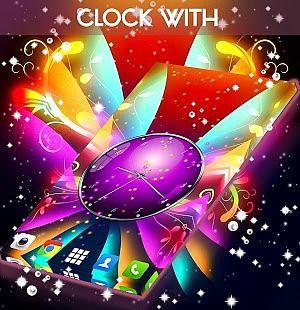 Horloge avec des papillons