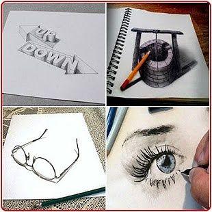 Drawing 3D Shapes Design