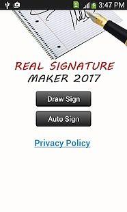 Véritable signature Maker 2017
