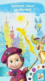 Masha et Michka: Jeux de Coloriage Enfant Gratuit