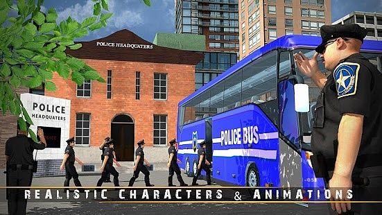 Police Bus jeu de conduite en
