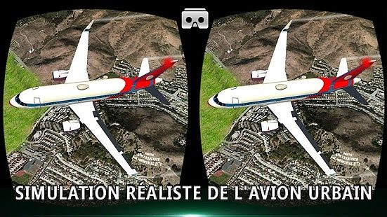 Simulateur de vol d'avion vr city