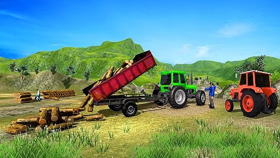 Tracteur agricole récolte récolte conduite jeu