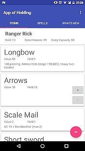 App of Holding for D&D