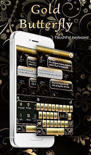 Gold Butterfly Thème pour clavier