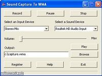 Sound Capture To WMA