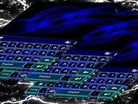 Thème de l'effet néon bleu