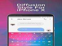 Diffusion Emoji Keyboard Theme For iPhone X