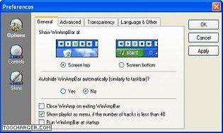 WinAmpBar