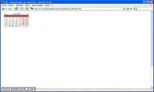 Calendrier en PHP