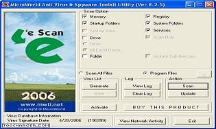 eScanAV Antivirus Toolkit