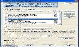 Power CD G to Video Karaoke Converter