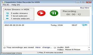 Supertintin Msn/Live Messenger Webcam Recorder