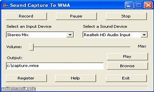 Sound Capture To WMA