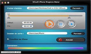 Xilisoft Créateur Sonnerie iPhone Mac
