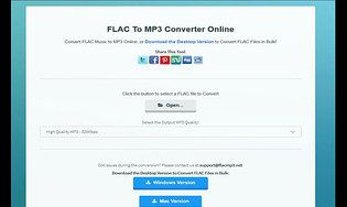 FLAC To MP3 Converter Online 1.0