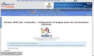 Intégration d'images dans les Formulaires Continus